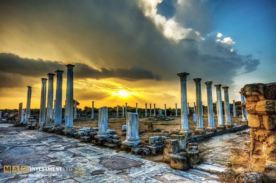 شهر باستانی سالامیس قبرس شمالی