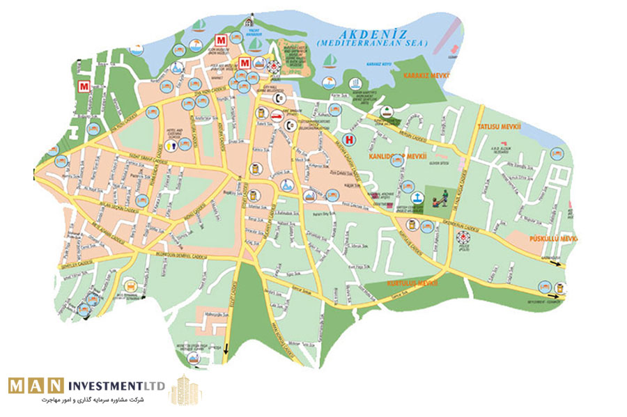 نقشه قبرس شمالی